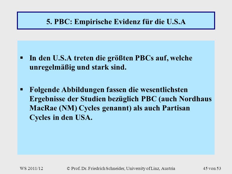 WS 2011/12© Prof. Dr. Friedrich Schneider, University of Linz, Austria45 von 53 5.
