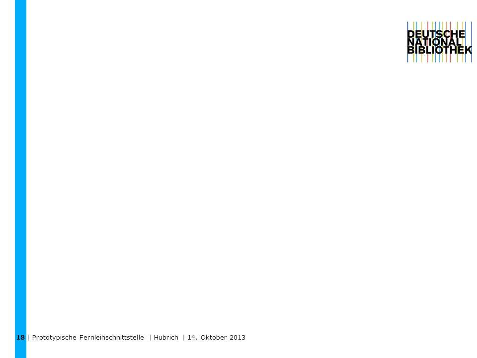 | Prototypische Fernleihschnittstelle | Hubrich | 14. Oktober 2013 18