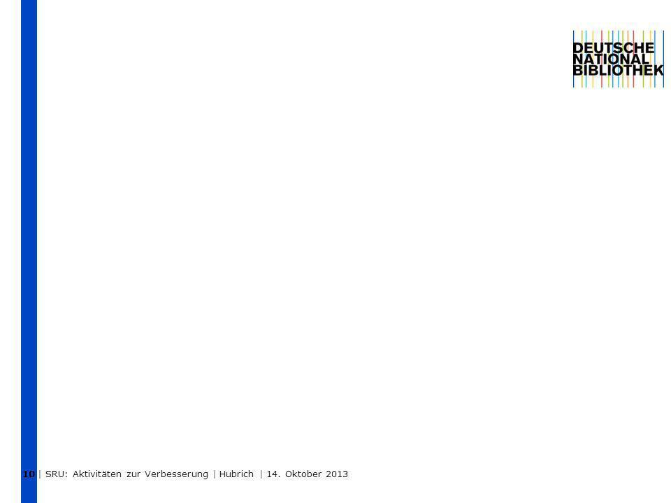   SRU: Aktivitäten zur Verbesserung   Hubrich   14. Oktober 2013 11