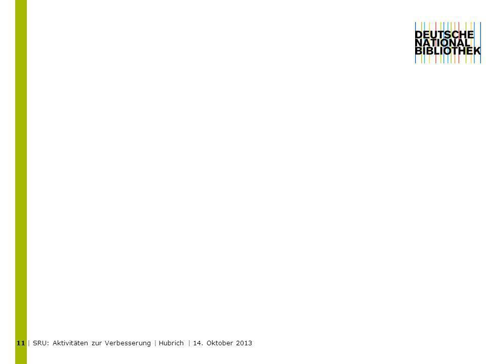 | SRU: Aktivitäten zur Verbesserung | Hubrich | 14. Oktober 2013 11