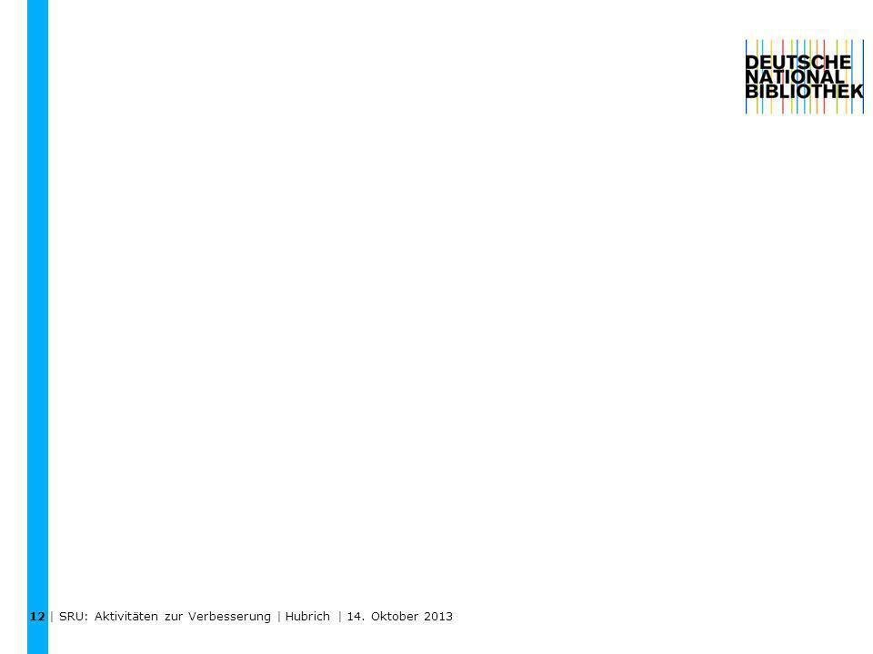 | SRU: Aktivitäten zur Verbesserung | Hubrich | 14. Oktober 2013 12