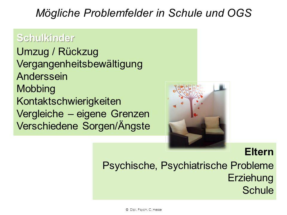 Mögliche Problemfelder in Schule und OGS Schulkinder - Familie Probleme Eltern, Familien Kind © Dipl.