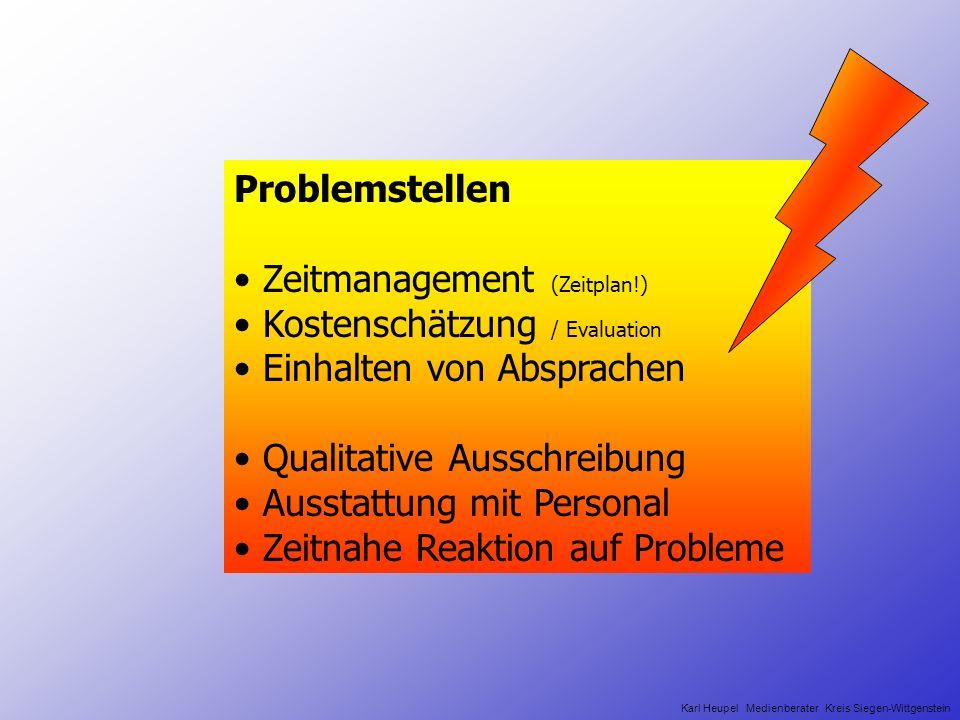 Lösungsansatz der KDZ Unterstützung bei Planungsaufgaben Gemeinsame Ausschreibung Installation von Servern und Clients Support (Wartung und Service) Schulungen Kosteneinsparung Karl Heupel Medienberater Kreis Siegen-Wittgenstein