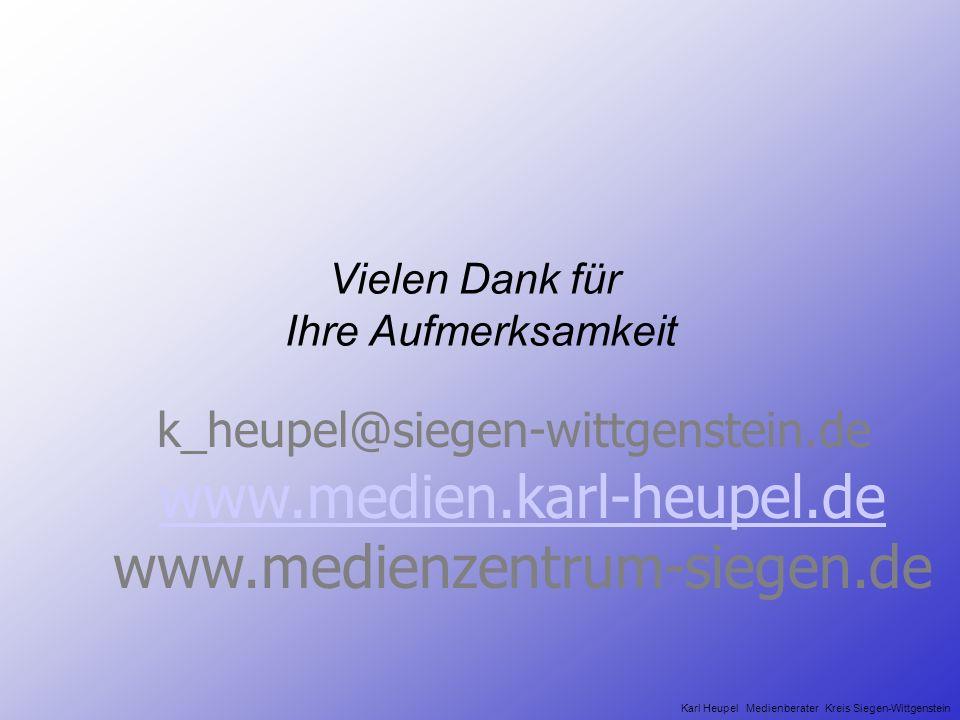 Kommunales Umfeld Schule Schulmanagement Karl Heupel Medienberater Kreis Siegen-Wittgenstein Eine Qualifizierung von Kindern und Jugendlichen für die
