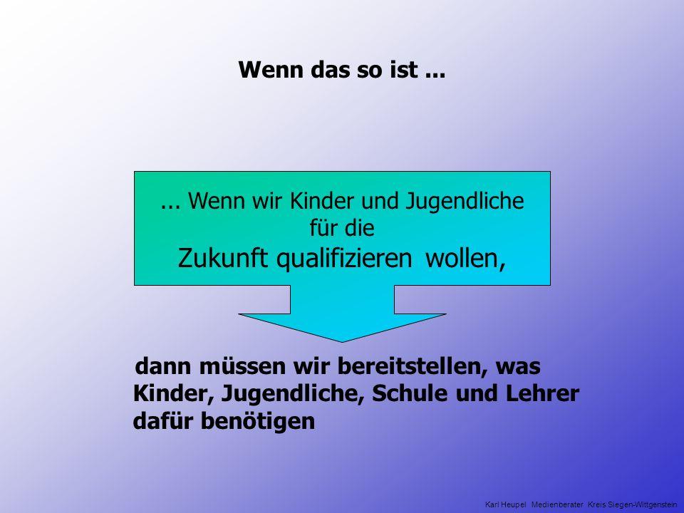 Vielen Dank für Ihre Aufmerksamkeit k_heupel@siegen-wittgenstein.de www.medien.karl-heupel.de www.medienzentrum-siegen.de Karl Heupel Medienberater Kreis Siegen-Wittgenstein