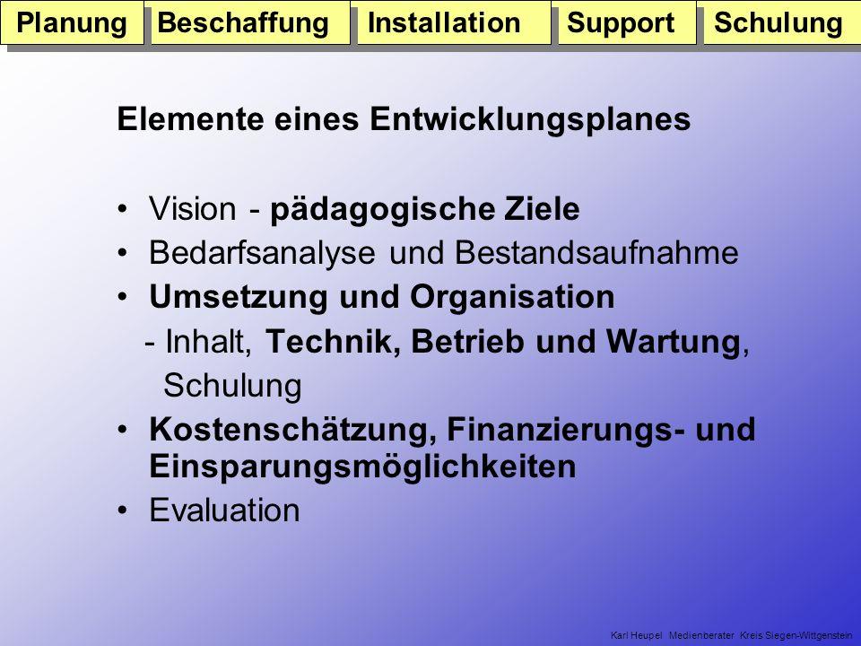 Karl Heupel e-team Kreis Siegen-Wittgenstein Bis zum Ende des Jahres 2004 soll das Lernen mit Internet und Multimedia in Nordrhein-Westfalen zum Unterrichtsalltag werden.