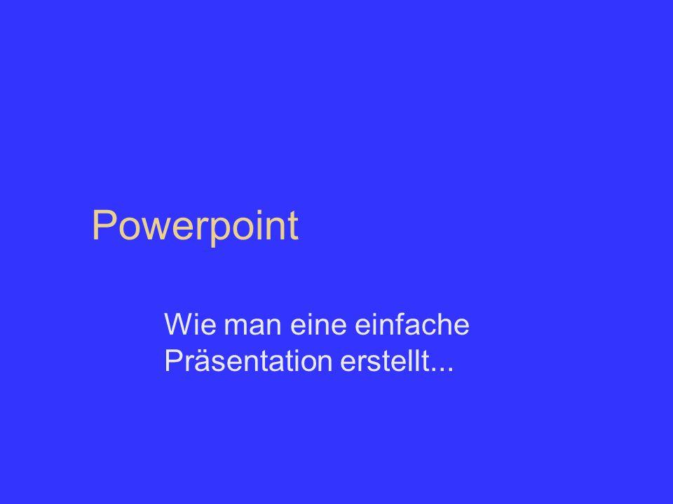 Powerpoint Wie man eine einfache Präsentation erstellt...