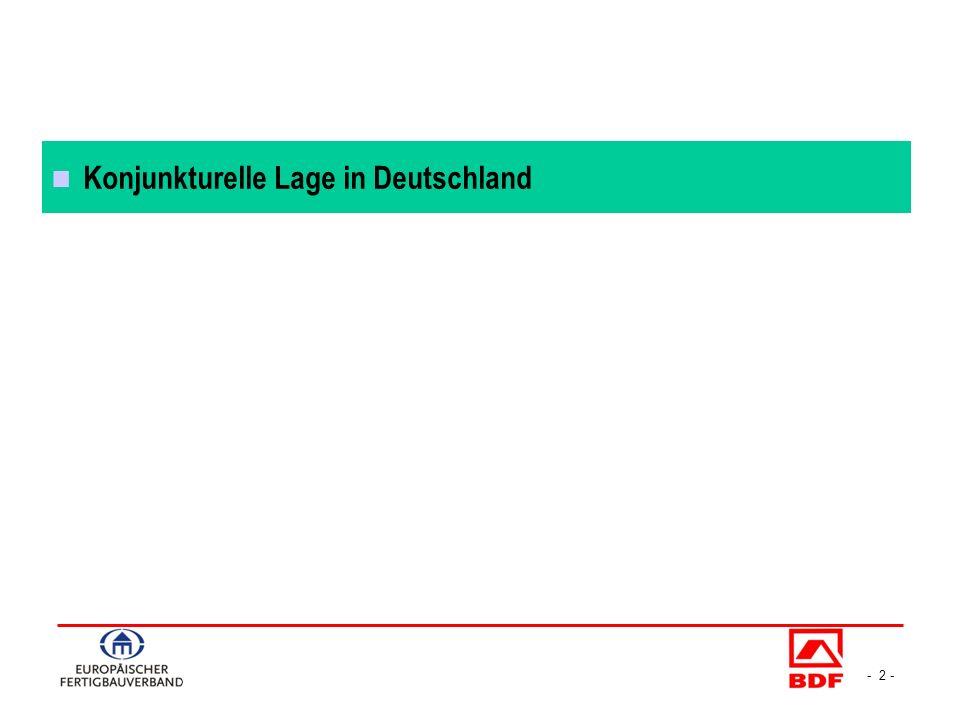 - 3 - Konjunkturverlauf in Deutschland 2008-2013 Veränderungsraten BIP / Konsum in % zum Vorquartal