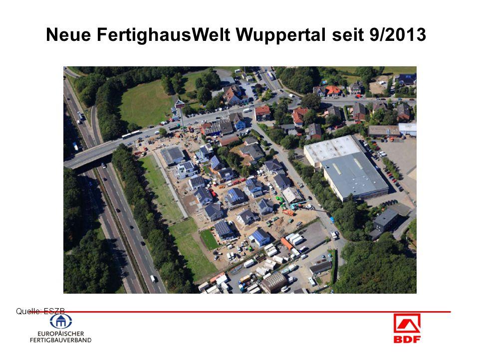Quelle: ESZB Neue FertighausWelt Wuppertal seit 9/2013