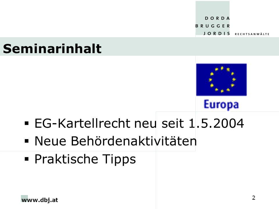 www.dbj.at 13 Zusammenarbeit K+NCA Beratender Ausschuss (Art 14) Netzwerk ECN (Art 11-12)