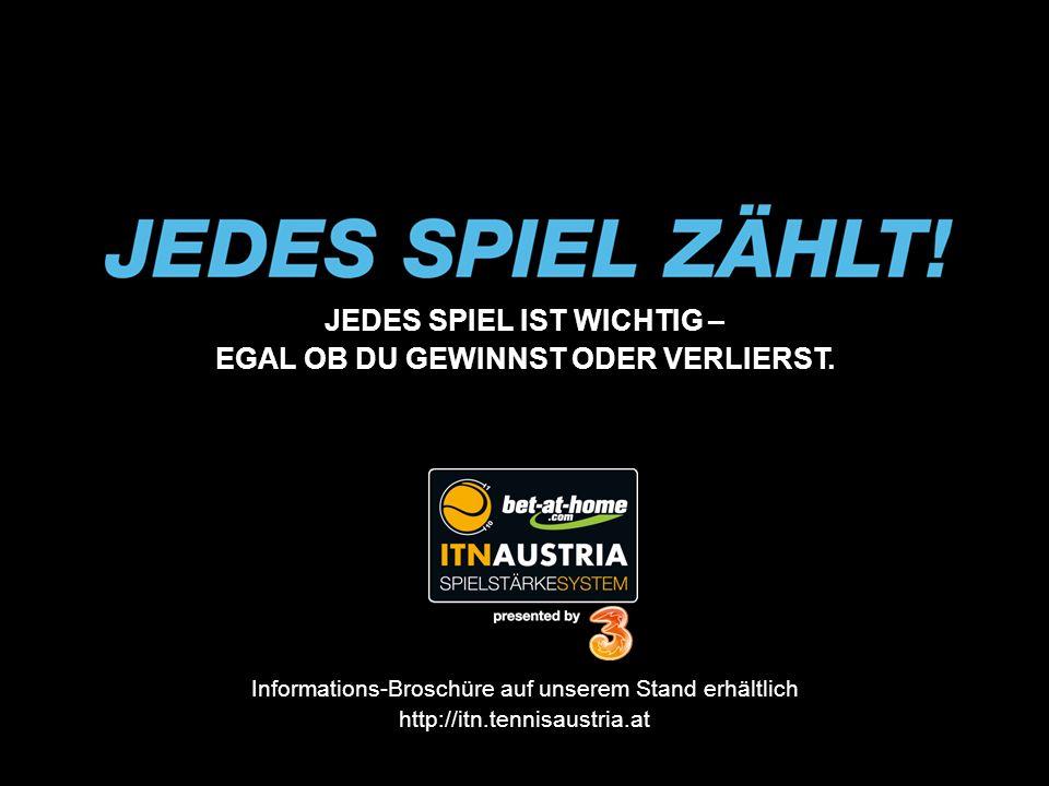 JEDES SPIEL IST WICHTIG – EGAL OB DU GEWINNST ODER VERLIERST. Informations-Broschüre auf unserem Stand erhältlich http://itn.tennisaustria.at