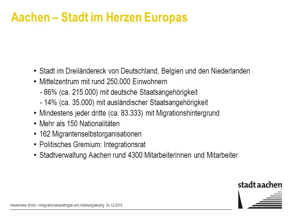 Integration im FB 50 mit Integrationszentrum-Aufgaben Heidemarie Ernst – Integrationsbeauftragte und Abteilungsleitung 04.12.2013 §7Abs.