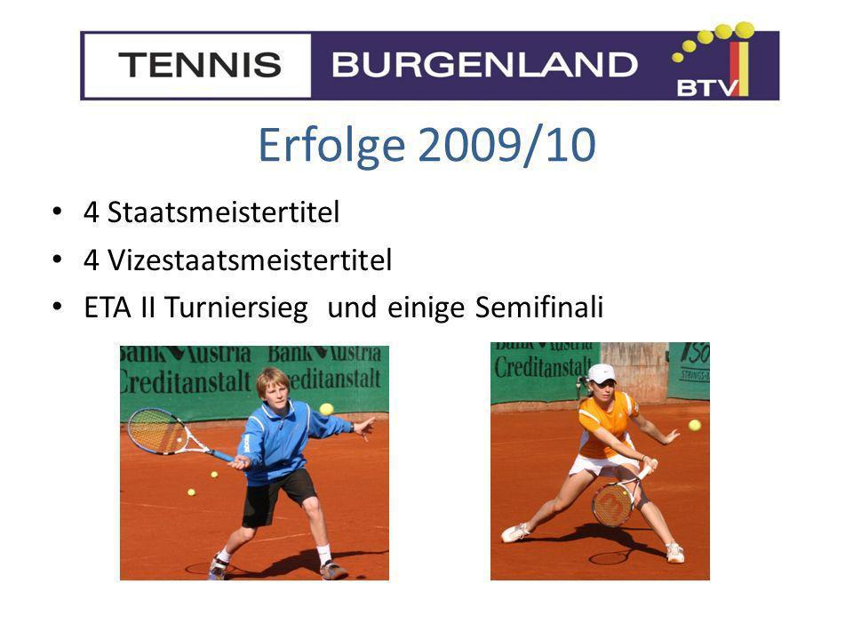 Erfolge 2009/10 4 Staatsmeistertitel 4 Vizestaatsmeistertitel ETA II Turniersieg und einige Semifinali
