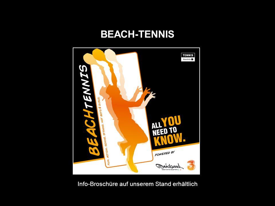 Info-Broschüre auf unserem Stand erhältlich BEACH-TENNIS