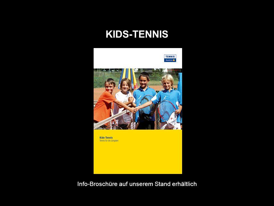 KIDS-TENNIS Info-Broschüre auf unserem Stand erhältlich