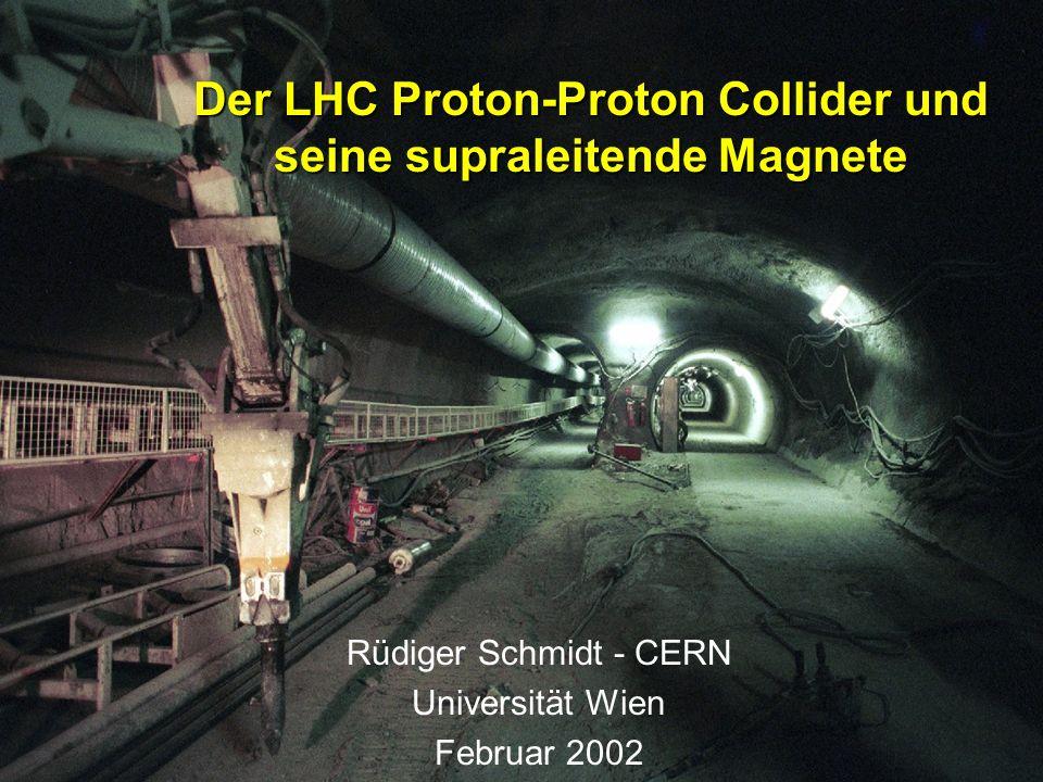 Der LHC Proton-Proton Collider und seine supraleitende Magnete Rüdiger Schmidt - CERN Universität Wien Februar 2002