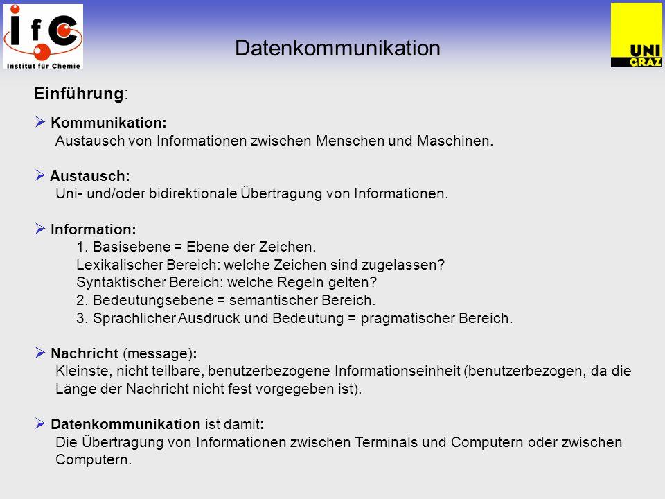 Einführung: Kommunikation: Austausch von Informationen zwischen Menschen und Maschinen.