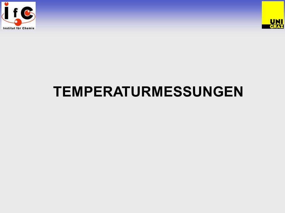 Temperaturmessungen Temperaturmessverfahren 1.
