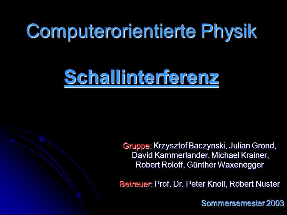 Gruppe: Krzysztof Baczynski, Julian Grond, David Kammerlander, Michael Krainer, David Kammerlander, Michael Krainer, Robert Roloff, Günther Waxenegger Betreuer: Prof.