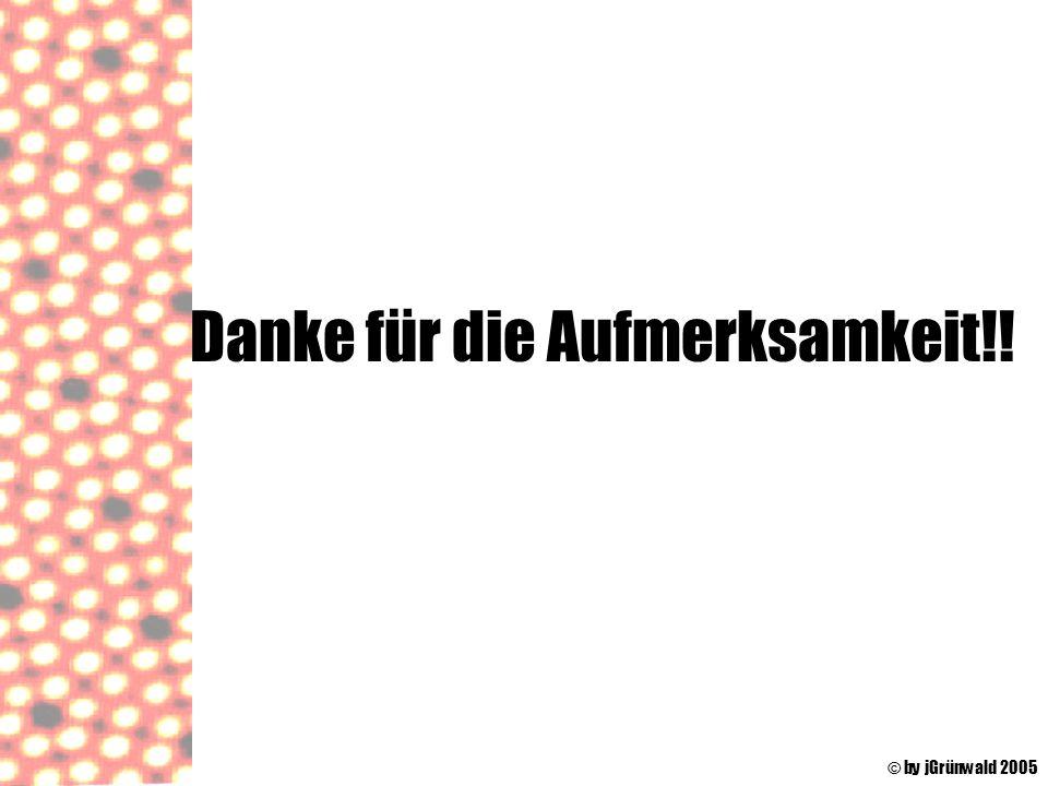 Danke für die Aufmerksamkeit!! © by jGrünwald 2005