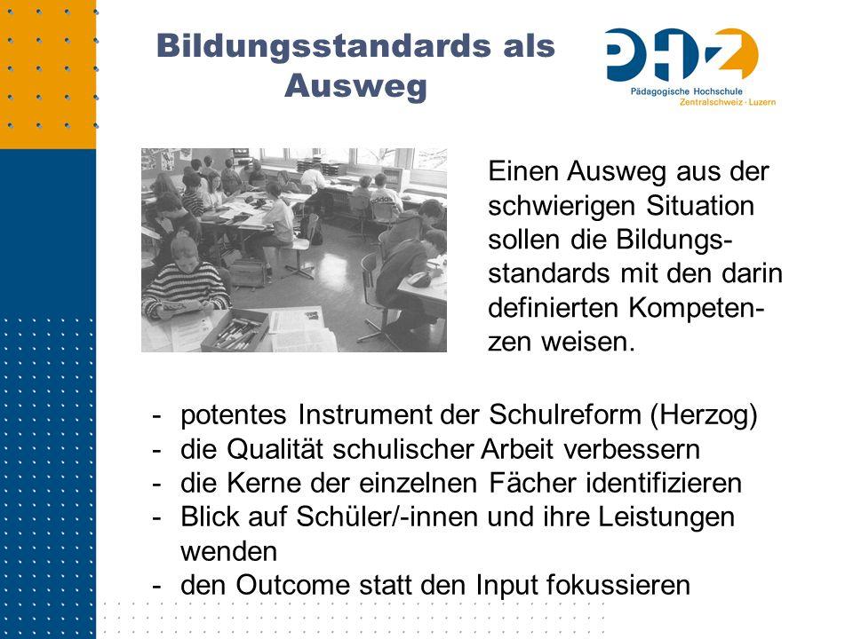 Jeder Bereich mit 4 Kompetenzen Bereich: Schweiz im Wandel wahrnehmen u.