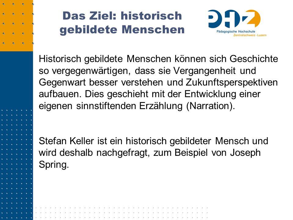 Stefan Keller und Joseph Spring Er tut dies auf Einladung von Joseph Spring.