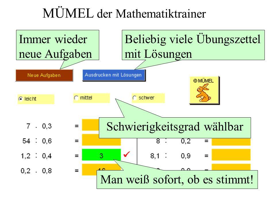 MÜMEL MATHEMATIK ÜBEN MIT EXCEL und EUML EXCEL UND MATHEMATIK LERNEN Voraussetzung dafür: Microsoft Excel ab Version 2000