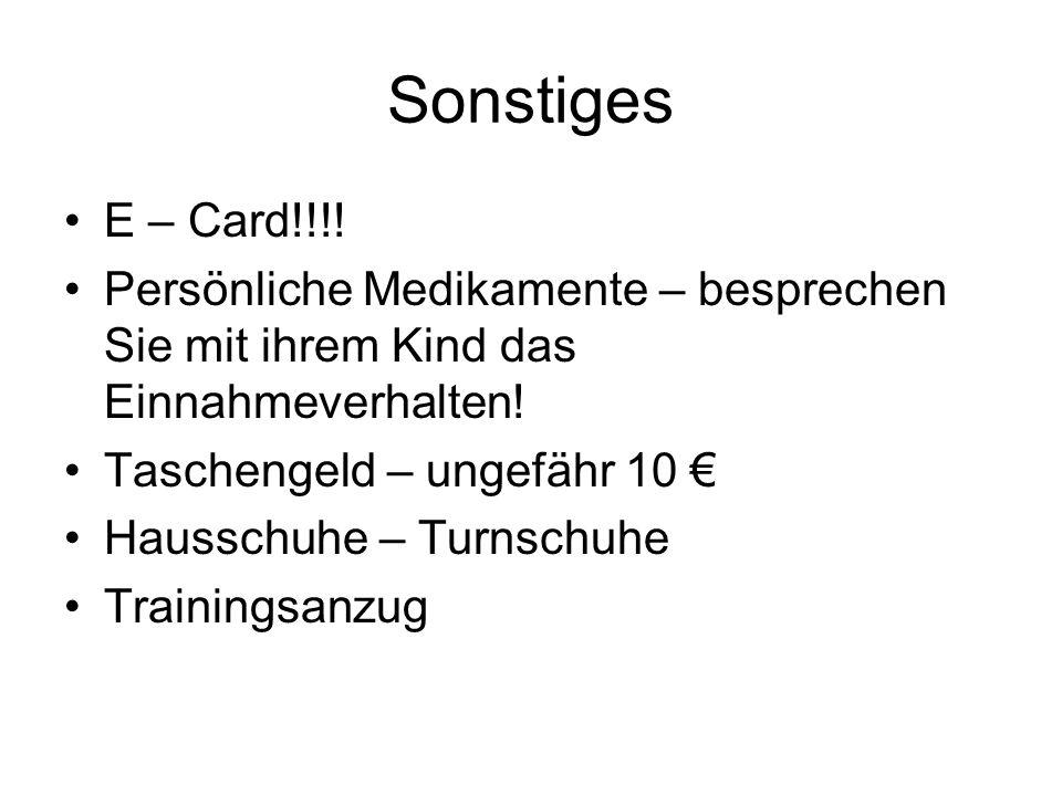 Sonstiges E – Card!!!.