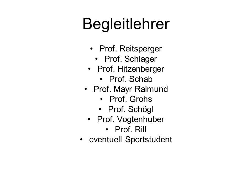 Begleitlehrer Prof.Reitsperger Prof. Schlager Prof.