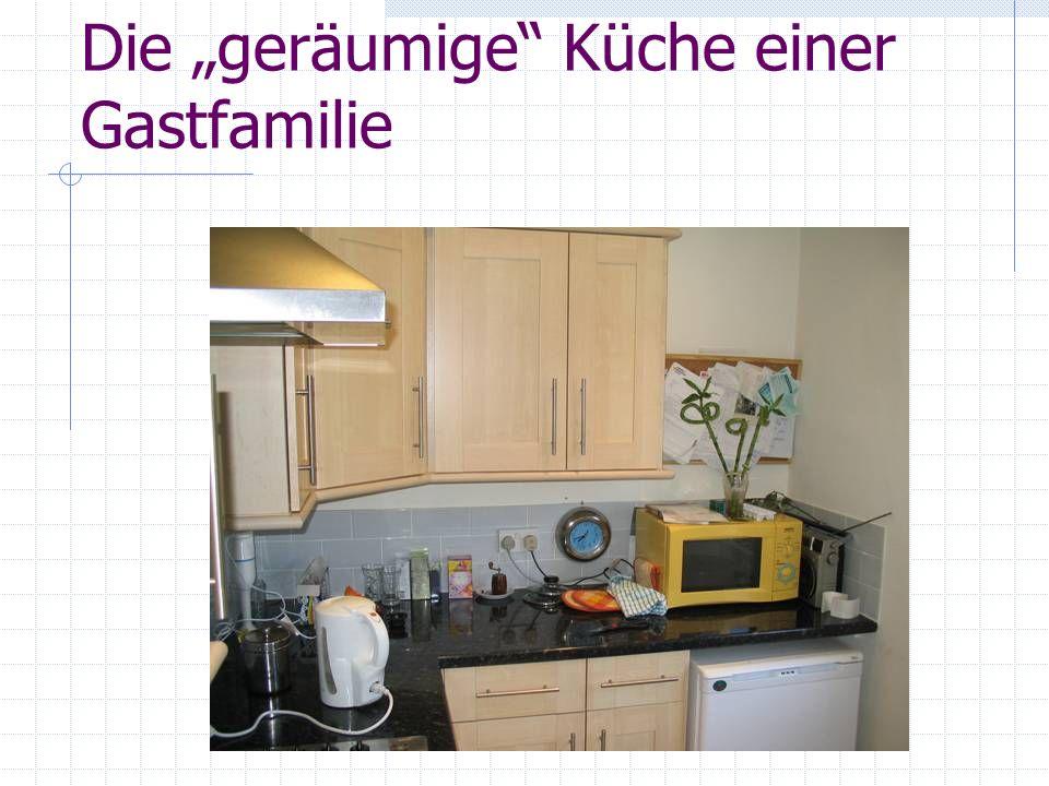 Die geräumige Küche einer Gastfamilie