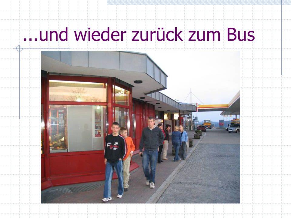 ...und wieder zurück zum Bus