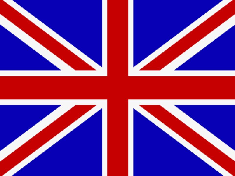 Der Union Jack ist seit 1801 die Staatsflagge von Großbritannien. Die drei Symbole –Das rote Kreuz des heiligen Georg steht für England. –Das weiße Kr