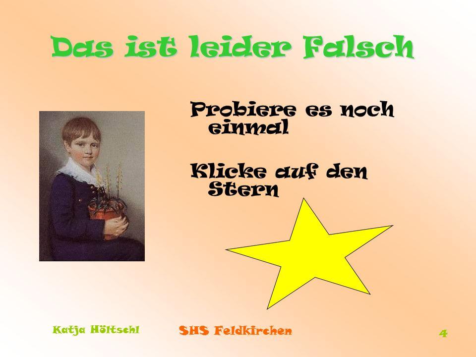 SHS Feldkirchen Katja Höltschl 4 Das ist leider Falsch Probiere es noch einmal Klicke auf den Stern