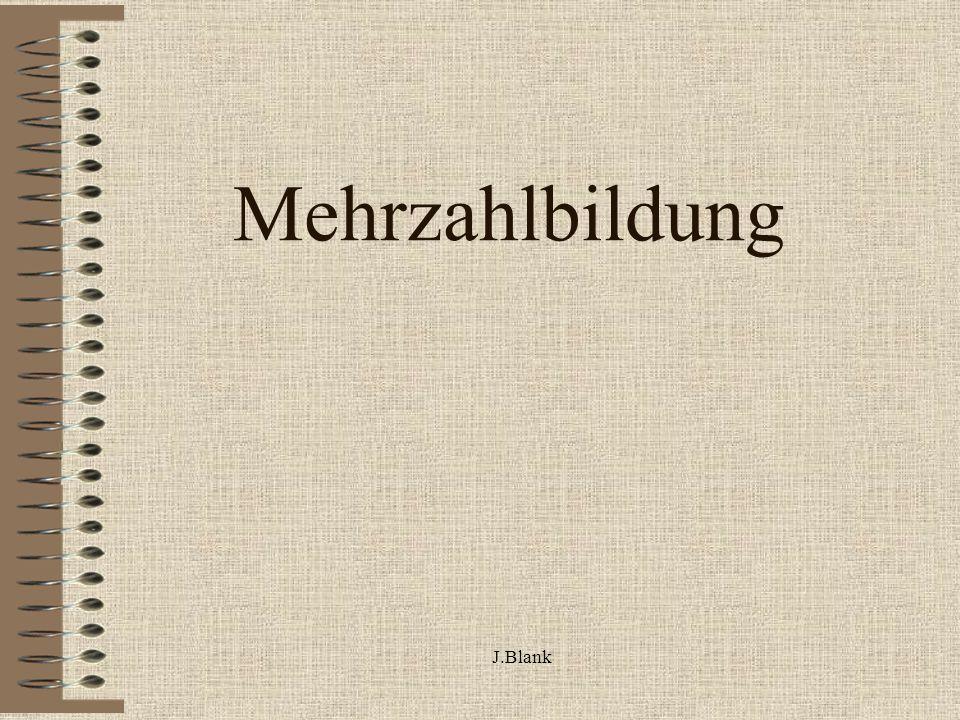 J.Blank Mehrzahlbildung