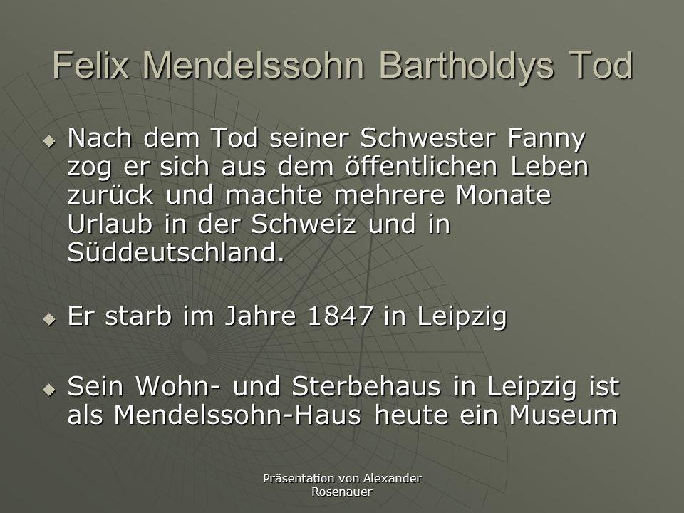 Präsentation von Alexander Rosenauer Lebensgeschichte Teil 6 Im gleichen Jahr wurde er zum Ehrenbürger der Stadt Leipzig ernannt.Im gleichen Jahr wurd
