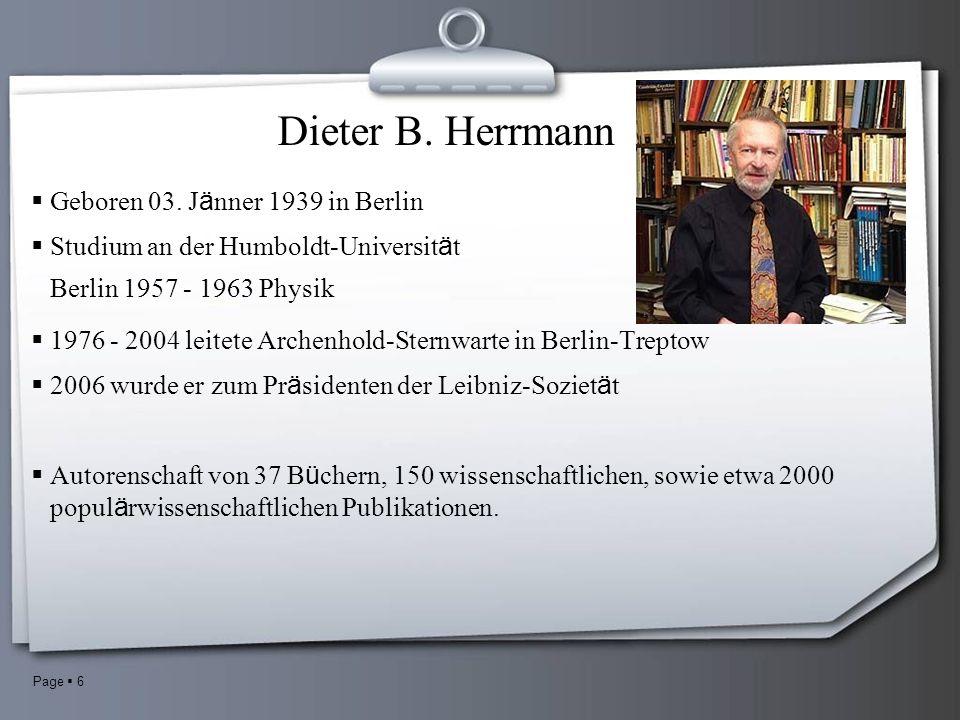 Page 6 Dieter B. Herrmann Geboren 03.