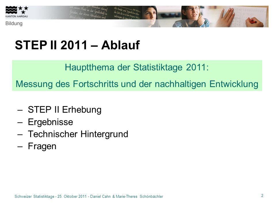 13 Schweizer Statistiktage - 25.