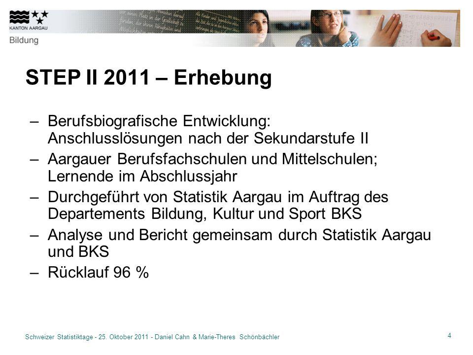 15 Schweizer Statistiktage - 25.