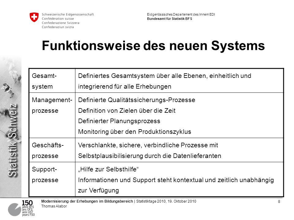 9 Modernisierung der Erhebungen im Bildungsbereich | Statistiktage 2010, 19.