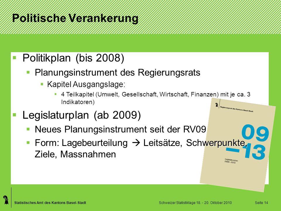 Statistisches Amt des Kantons Basel-Stadt Schweizer Statistiktage 18.