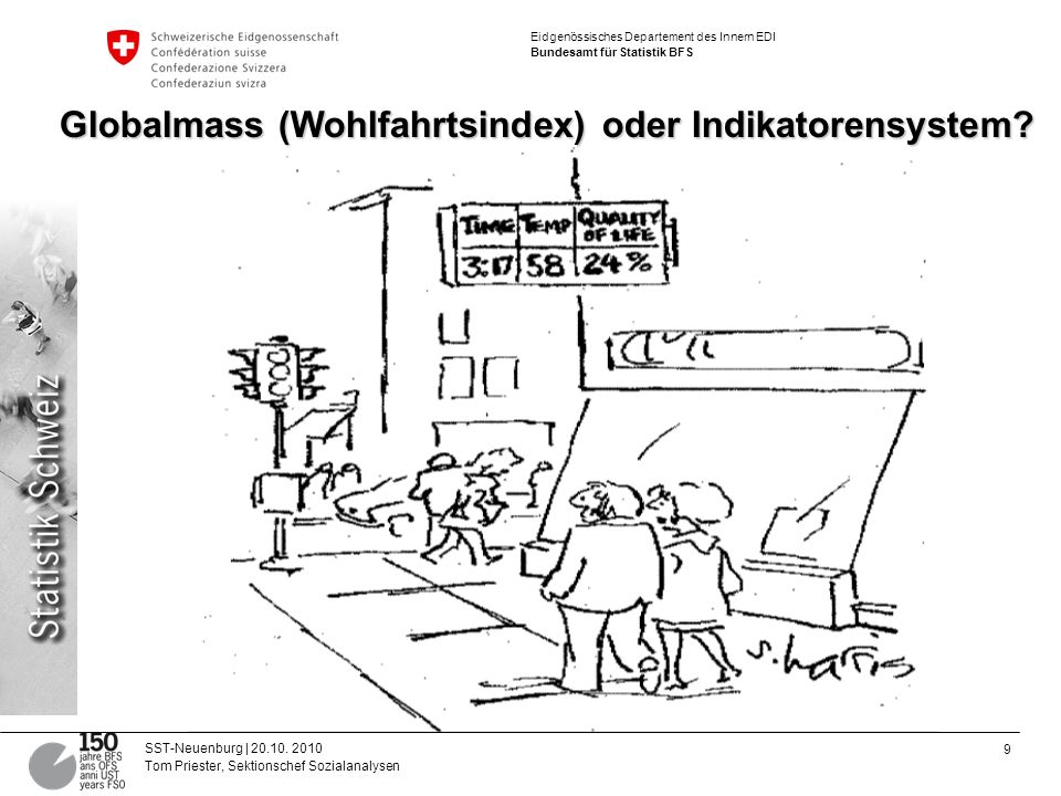 9 SST-Neuenburg | 20.10. 2010 Tom Priester, Sektionschef Sozialanalysen Eidgenössisches Departement des Innern EDI Bundesamt für Statistik BFS Globalm