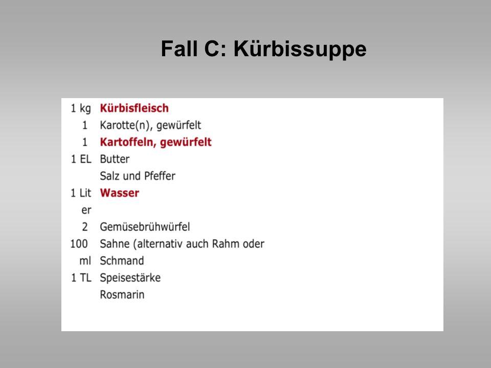 Fall C: Kürbissuppe