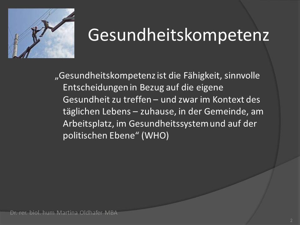 Wissenswertes über Compliance 13 Dr.rer. biol. hum Martina Oldhafer MBA Ca.