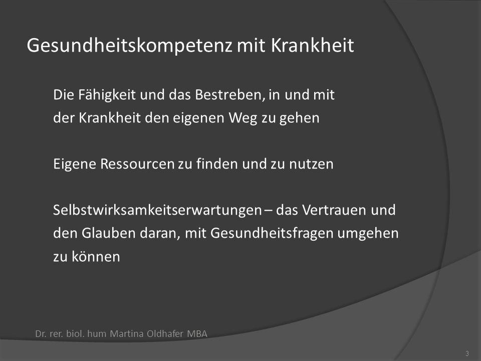Gesundheitskompetenz - Das Drei-Ebenen-Modell nach Nutbeam, 2000 Dr.