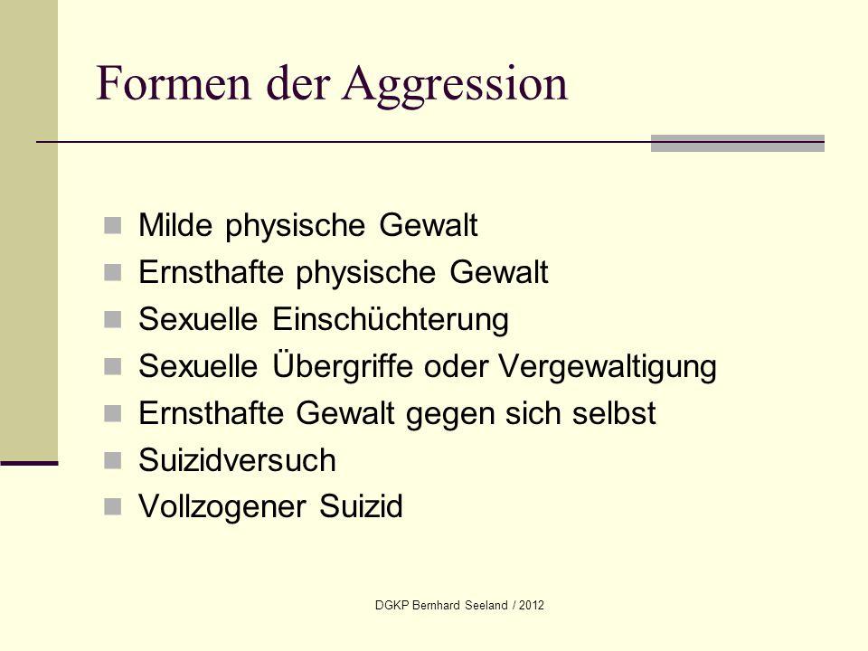DGKP Bernhard Seeland / 2012 Milde physische Gewalt Ernsthafte physische Gewalt Sexuelle Einschüchterung Sexuelle Übergriffe oder Vergewaltigung Ernst