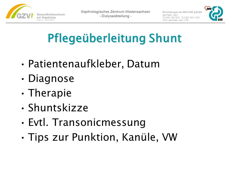 Nephrologisches Zentrum Niedersachsen - Dialyseabteilung - Hann.