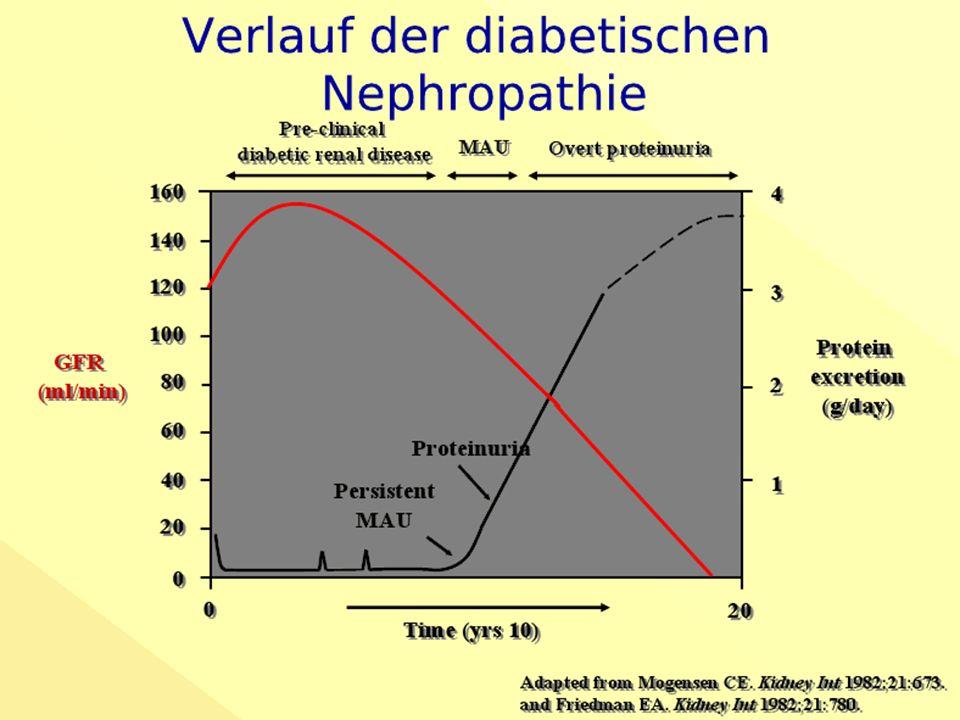 Diabetischen Nephropathie bei DM-Typ 2 Proteinurie-Reduktion und renale Prognose RENAAL, Eijkelkamp, JASN 2007
