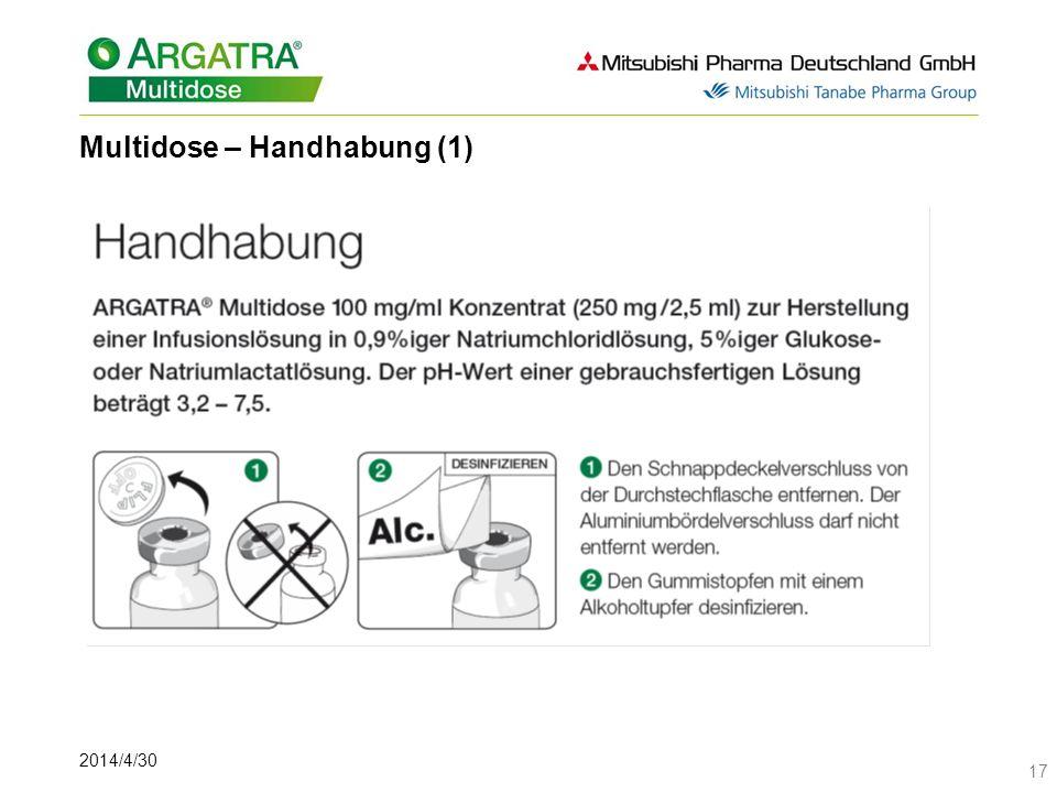 2014/4/30 17 Multidose – Handhabung (1)