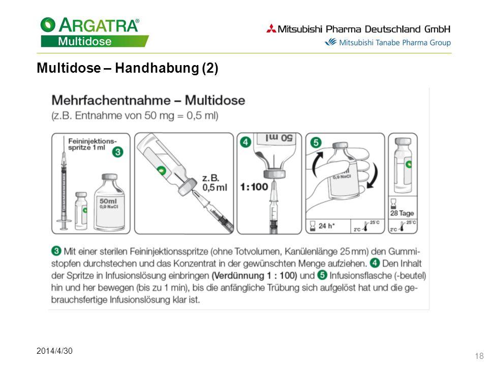 2014/4/30 18 Multidose – Handhabung (2)