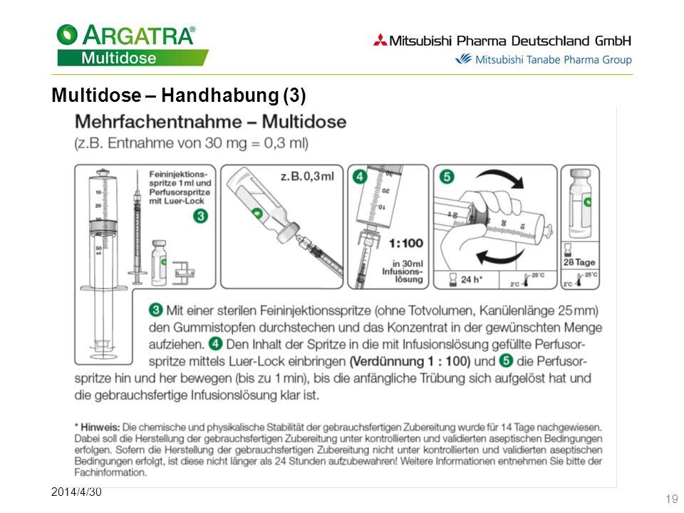 2014/4/30 19 Multidose – Handhabung (3)